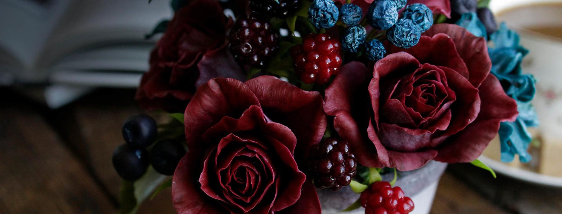 Фото 1 - Цветы из полимерной глины для двоих