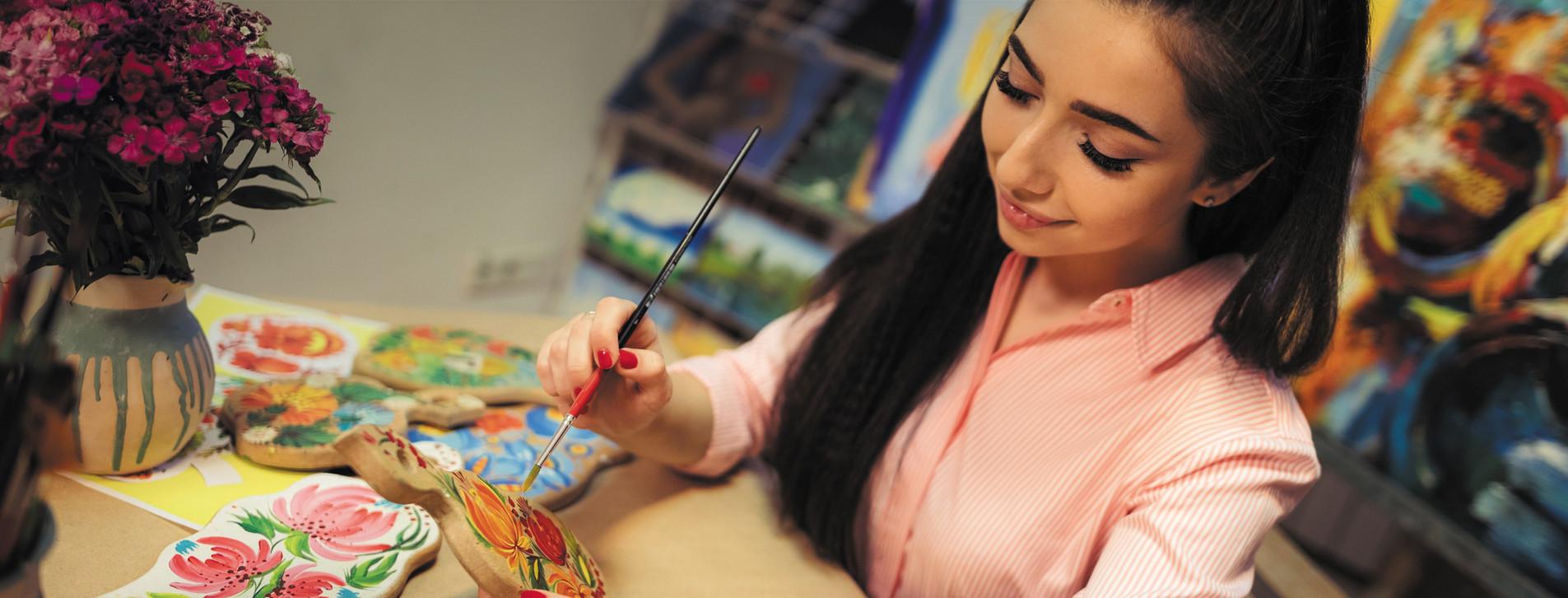 Фото 1 - Мастер-класс петриковской росписи