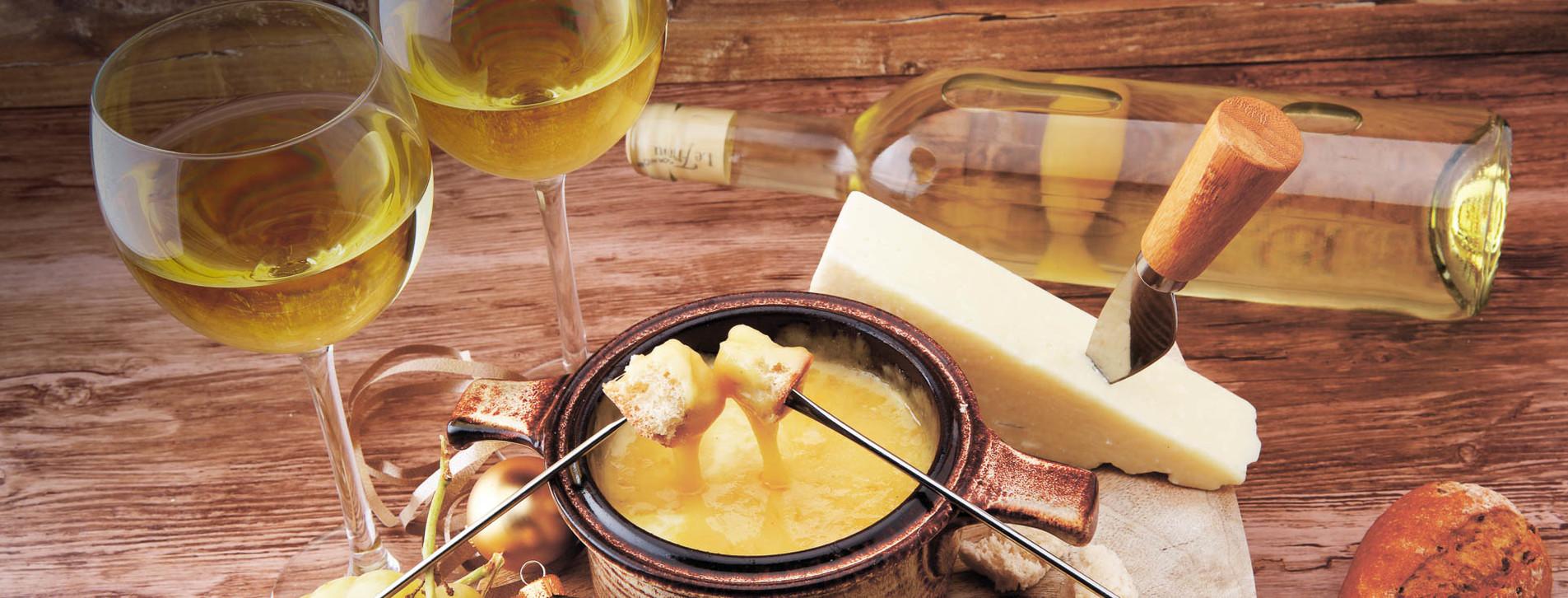 Фото - Вино та фондю для двох