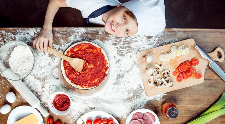 Детский мастер-класс пиццы в Киеве ✔️ Купить в подарок или забронировать  для себя — bodo