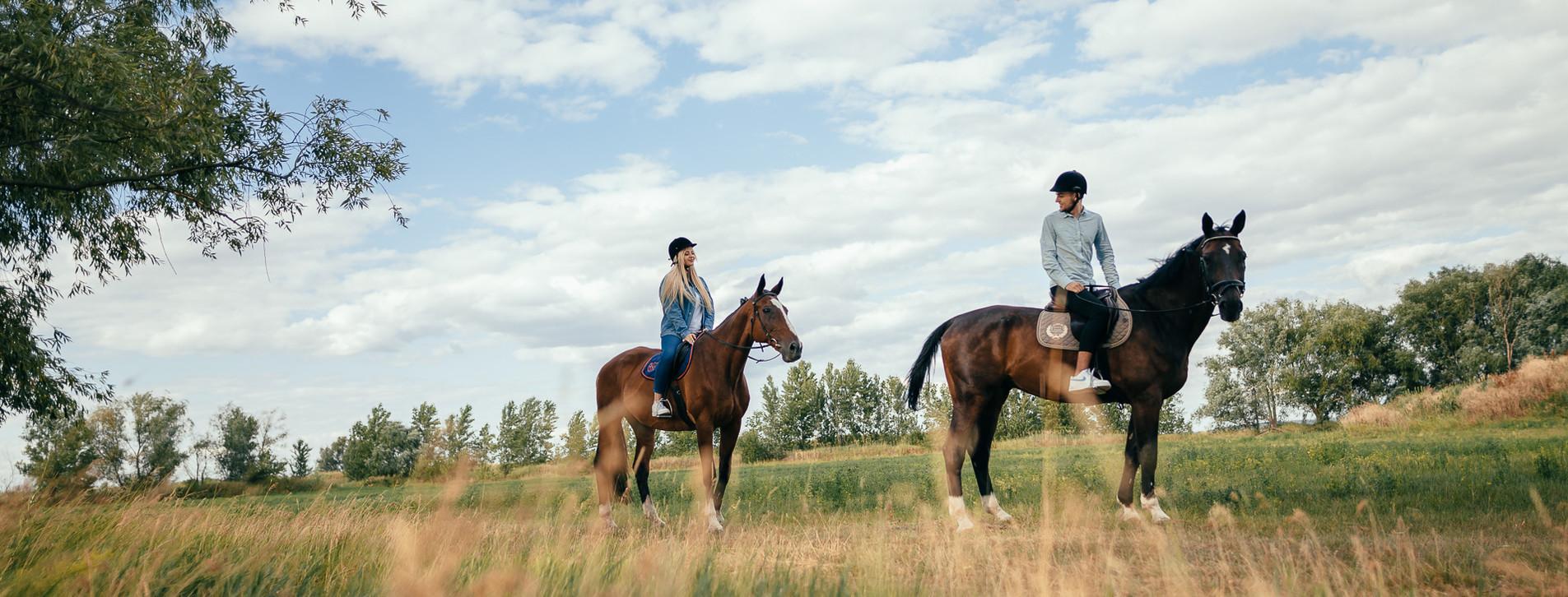 Фото 1 - Прогулка на лошадях для двоих Long