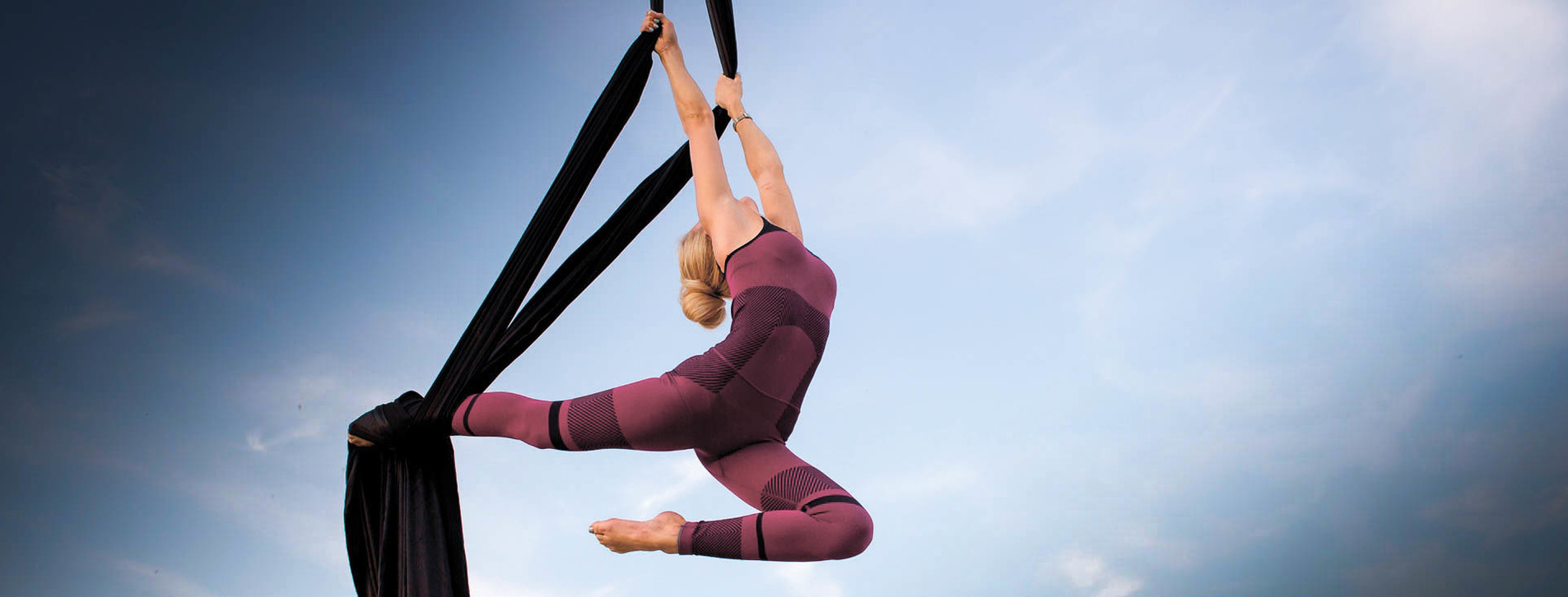 Фото 1 - Воздушная гимнастика на полотнах