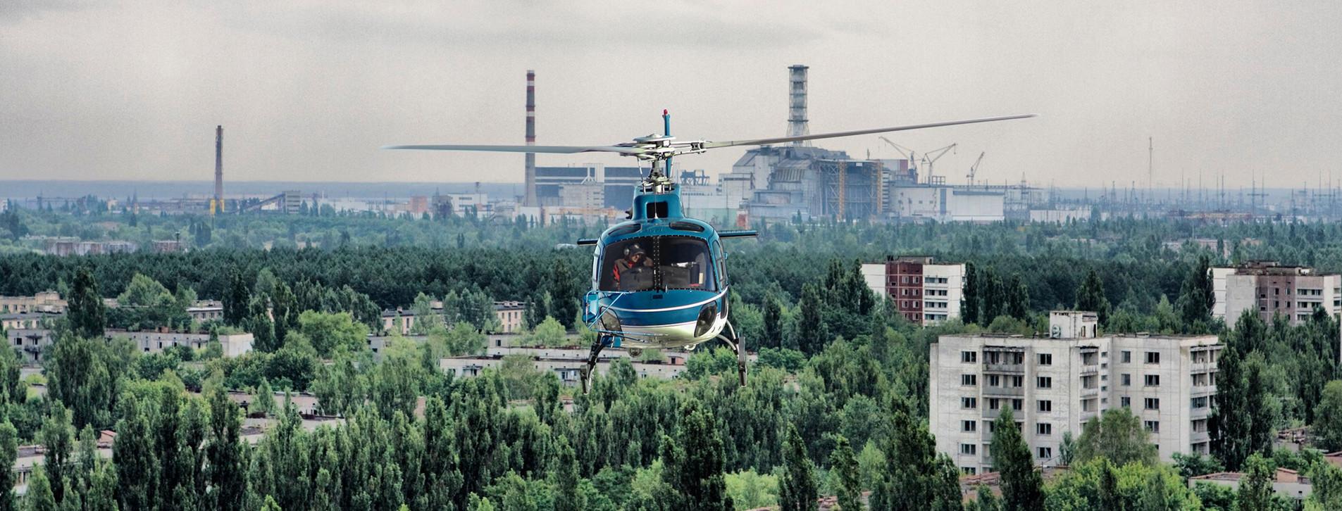 Фото - Полет на вертолете в Чернобыль