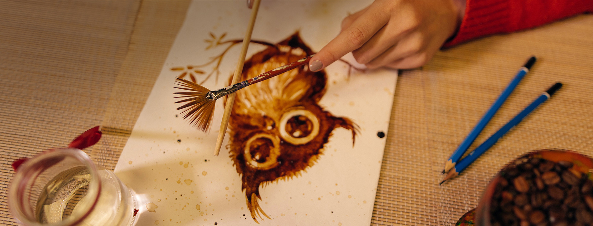 Фото 1 - Мастер-класс кофейной живописи