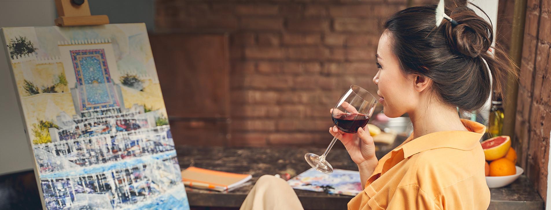 Фото 1 - Живопись и вино для компании
