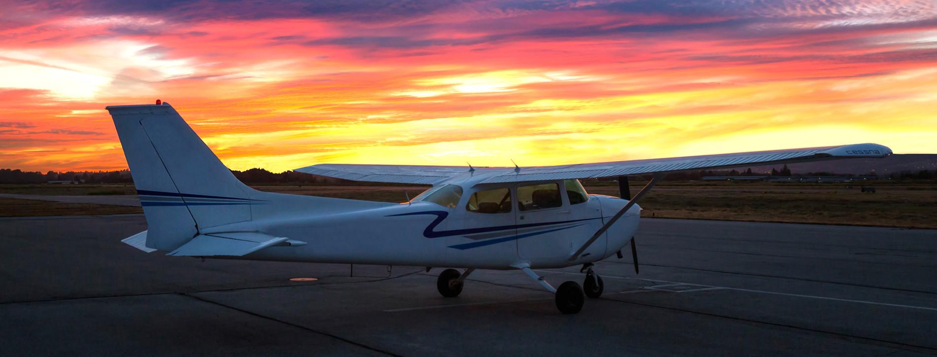 Фото - Ночной полет на самолете для двоих
