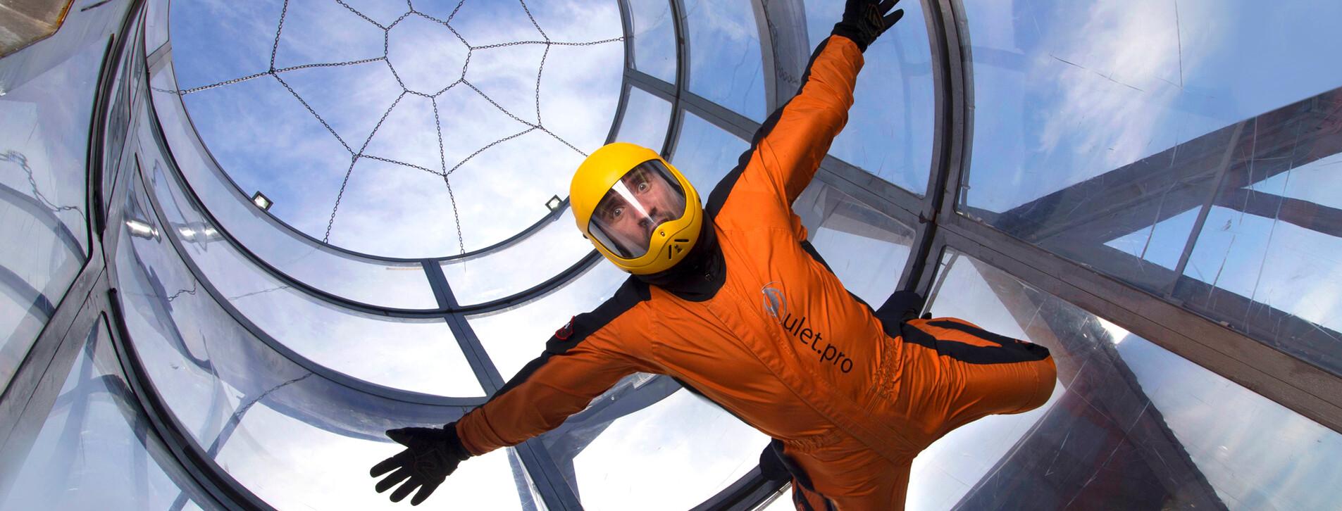 Фото 1 - Полет в аэротрубе для компании