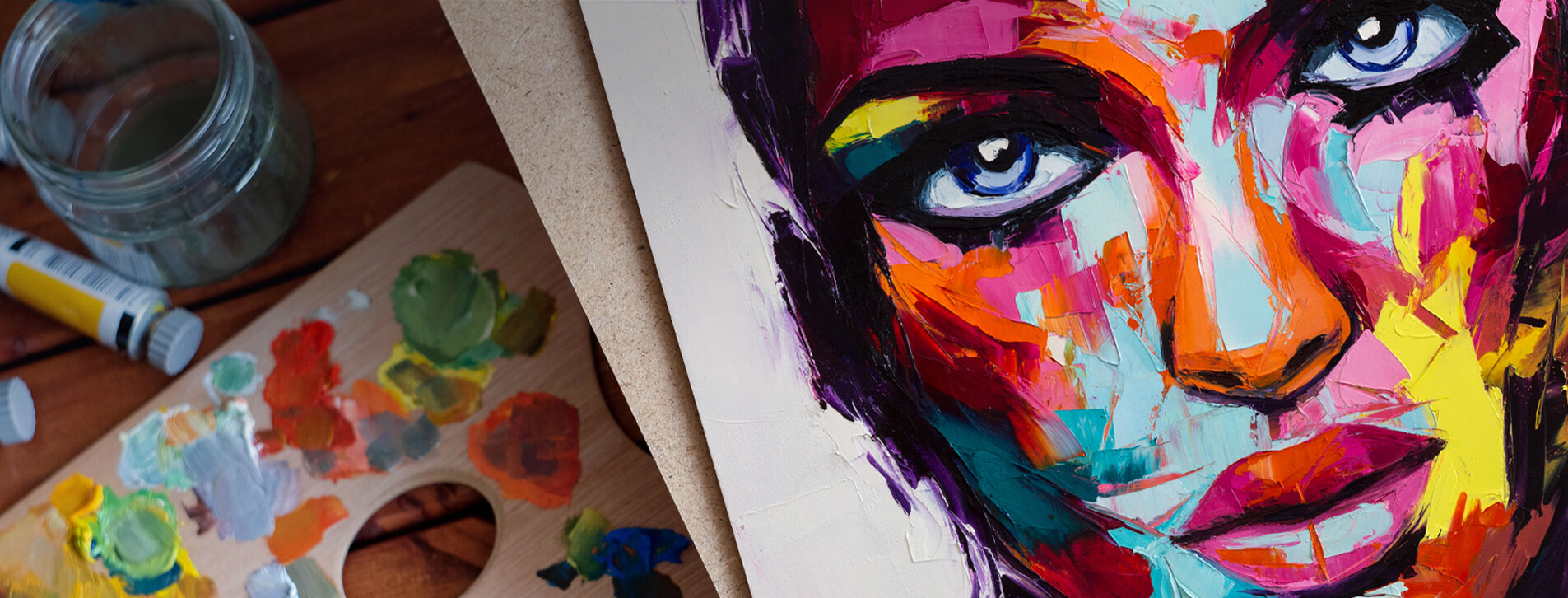 Фото 1 - Мастер-класс живописи в стиле поп-арт для двоих