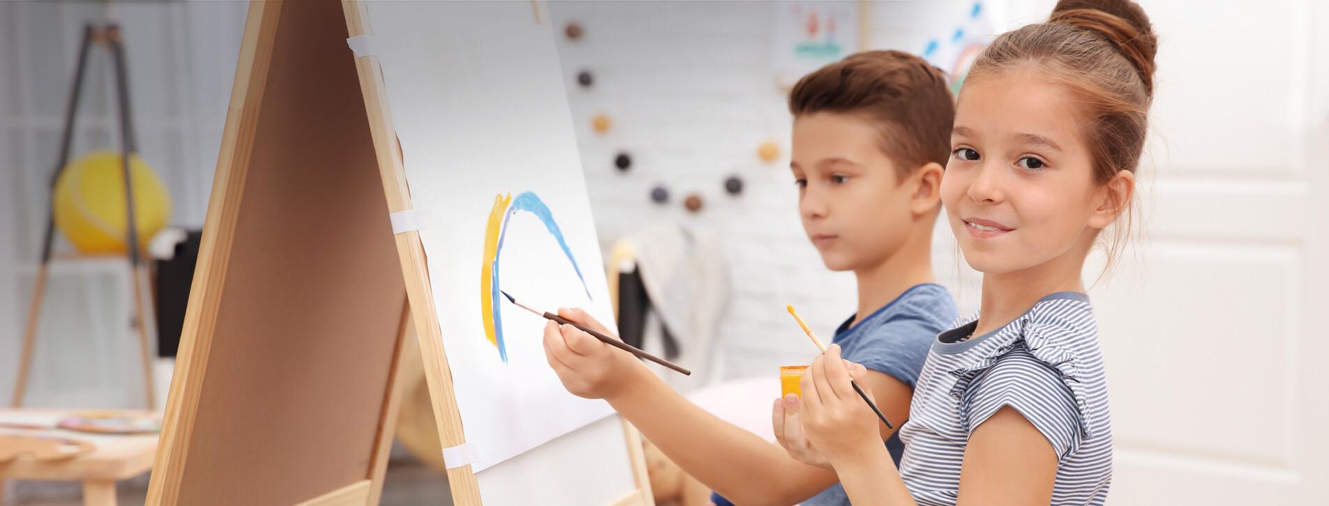 Фото 1 - Детский мастер-класс живописи для двоих