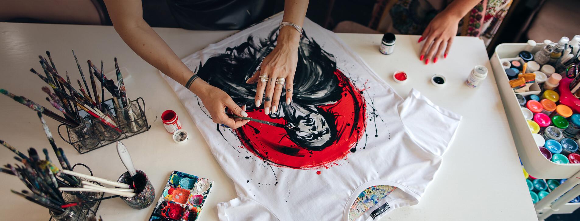 Фото 1 - Мастер-класс росписи одежды