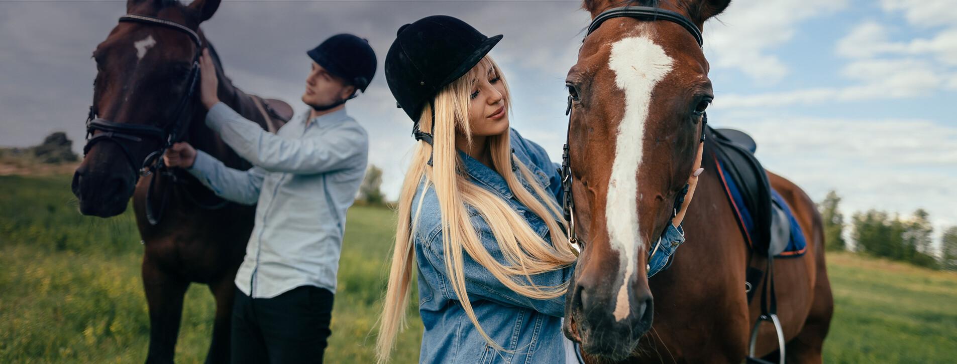 Фото 1 - Прогулка на лошадях для компании