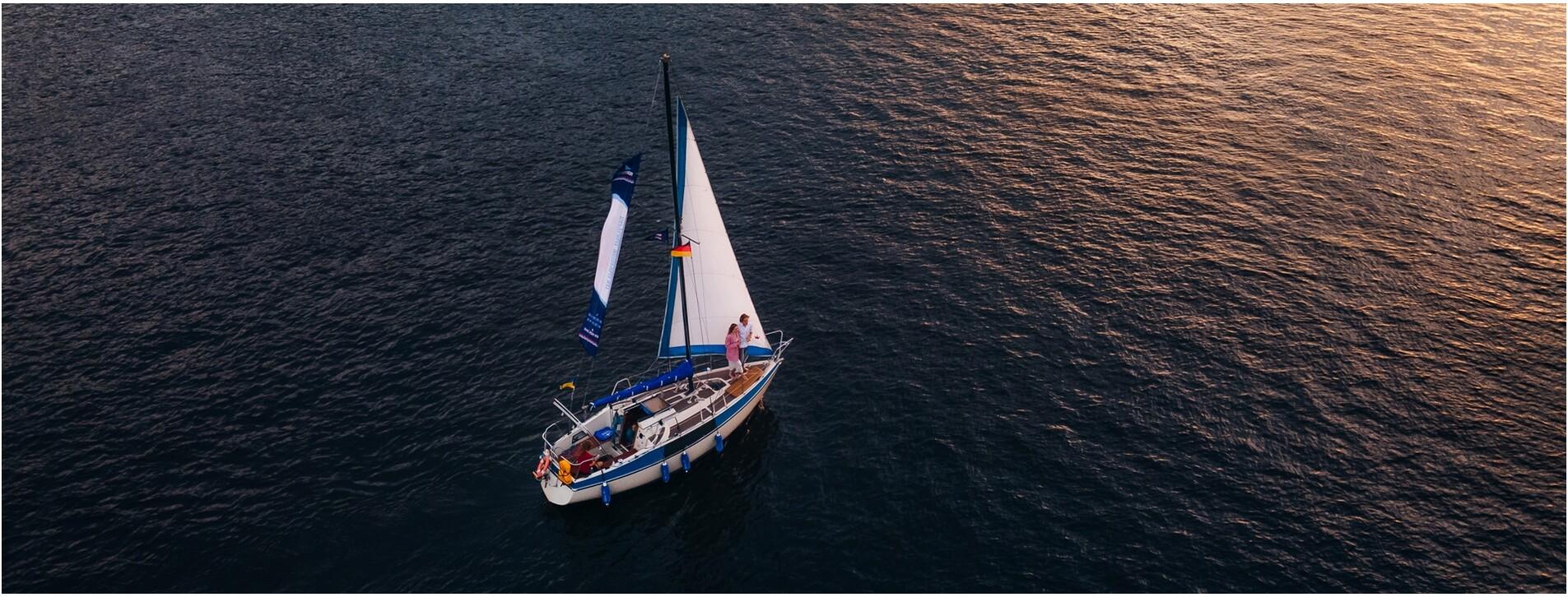 Фото 1 - Романтический закат на яхте