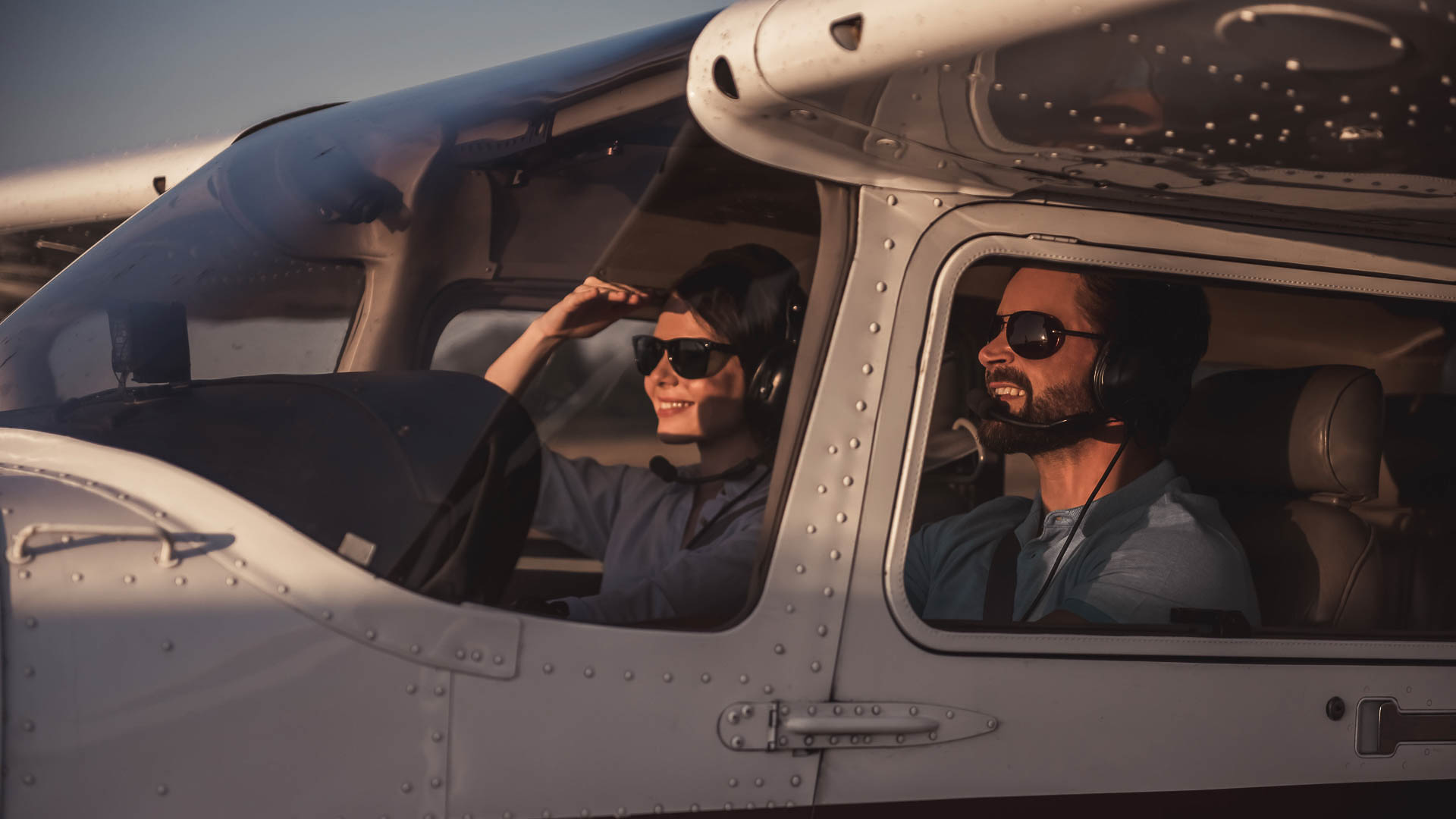 Учебный полет на самолете для двоих